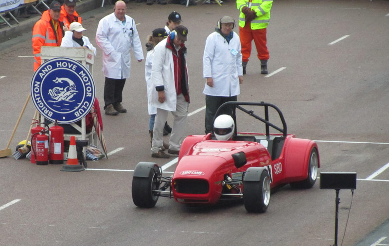 Carole on the start line for Brighton Speed Trials 2010